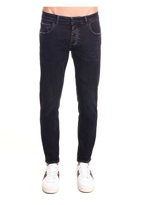 DAVIS SHORTER BLACK COTTON DENIM JEANS BE ABLE | Jeans | DAVISSHORTERBULLI11NERO
