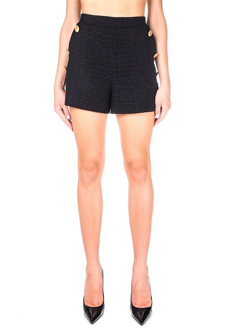 BLACK SHORTS IN MAT WITH GOLD BUTTONS BOUTIQUE MOSCHINO | Shorts | 031061160555