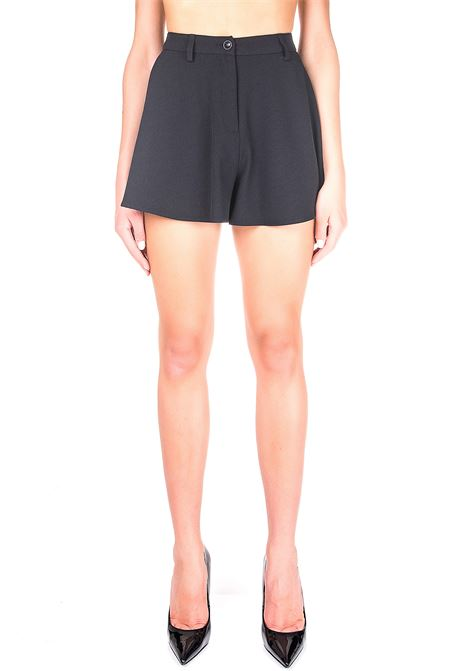 BLACK CREPE SHORTS BOUTIQUE MOSCHINO | Shorts | 031661340555