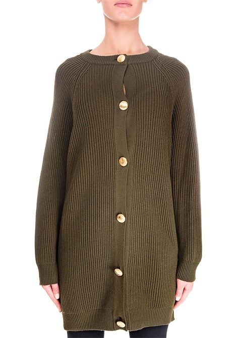 GREEN WOOL CARDIGAN BOUTIQUE MOSCHINO | Cardigans | 068061000440