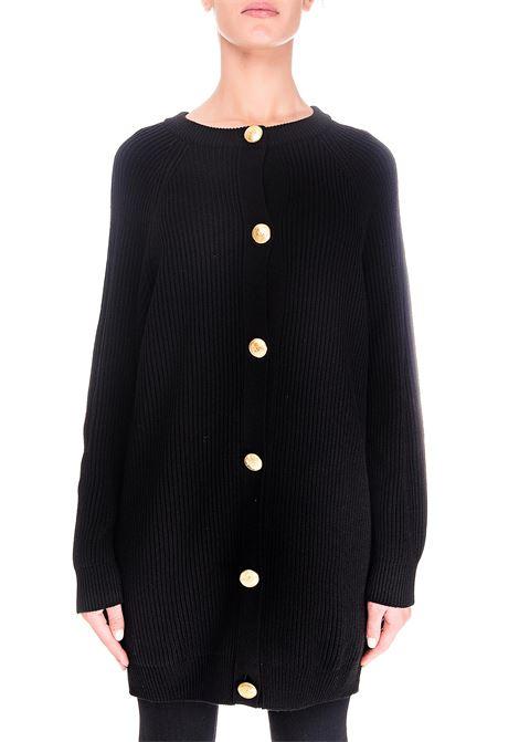 BLACK WOOL CARDIGAN BOUTIQUE MOSCHINO | Cardigans | 068061000555