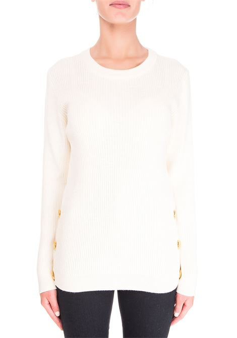 WHITE WOOL SWEATER BOUTIQUE MOSCHINO | Sweaters | 090161000002