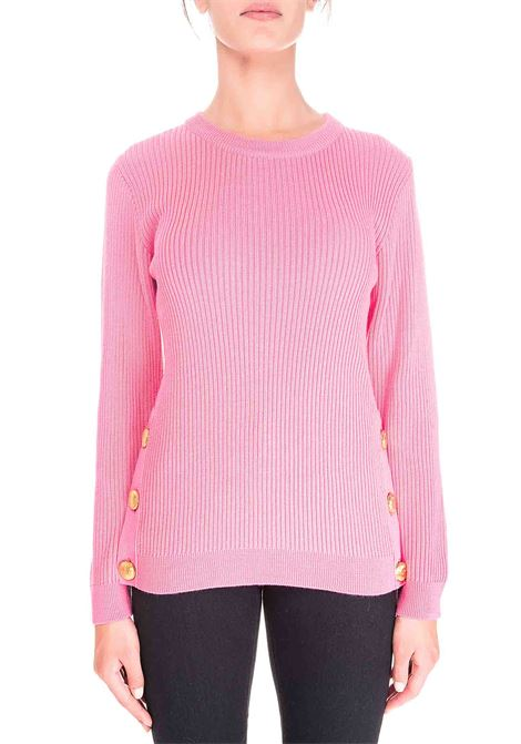 PINK WOOL SWEATER BOUTIQUE MOSCHINO | Sweaters | 090161000206