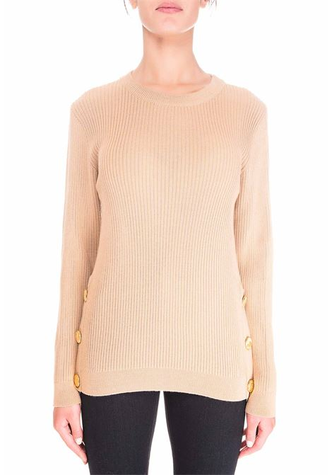 BEIGE WOOL SWEATER BOUTIQUE MOSCHINO | Sweaters | 090161004018