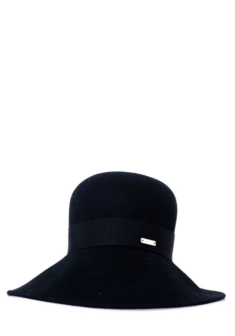 BLACK WOOL HAT IN THE SHAPE OF A SHADE CATARZI | Hats | AI202CAT18NERO