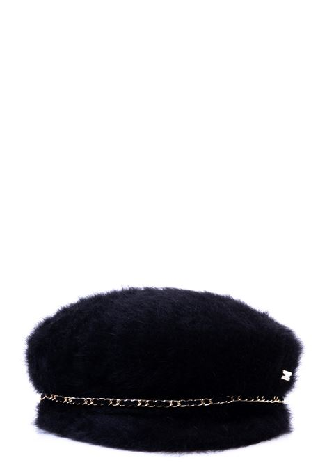 SAILOR CAP NERO IN ANGORA E LANA CATARZI | Cappelli | AI20CAT39NERO