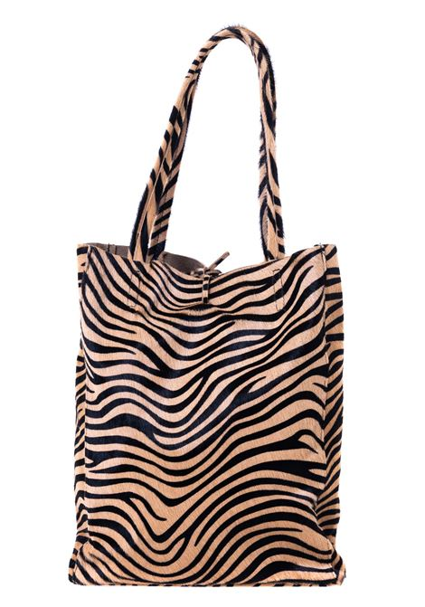 MULTICOLOR ZEBRA PRINT BAG WITH FRONT PLATE APPLICATION CATARZI | Bags | AI20CAT54ZEBRA