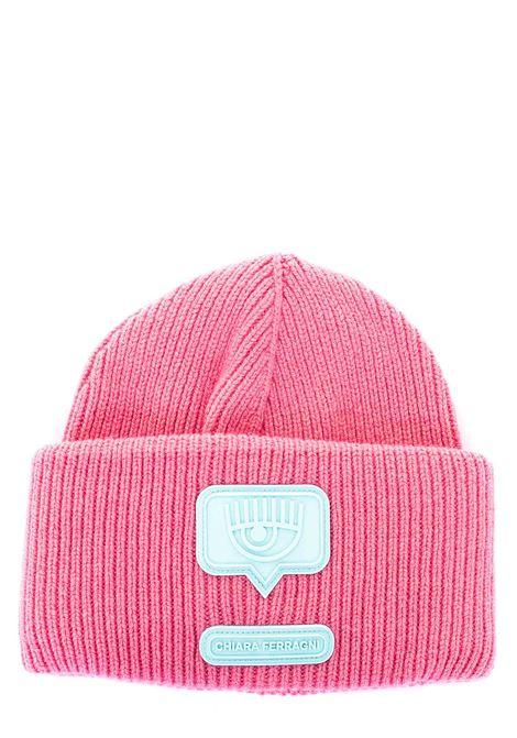 PINK WOOL HAT EYELIKE MODEL CHIARA FERRAGNI | Hats | CFC038ROSA