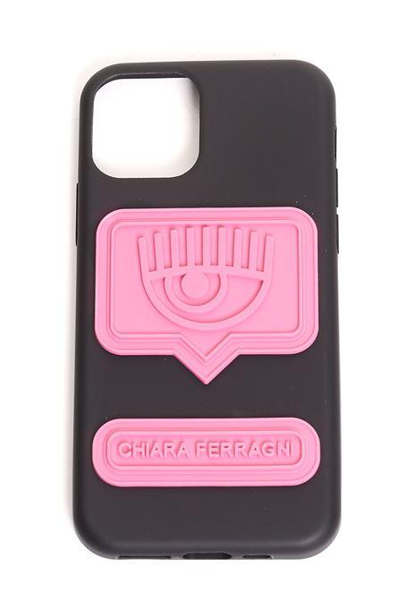 BLACK COVER IPHONE 11 PRO MAX EYELIKE MODEL CHIARA FERRAGNI | Case | CFCIP11P00711PRONERO