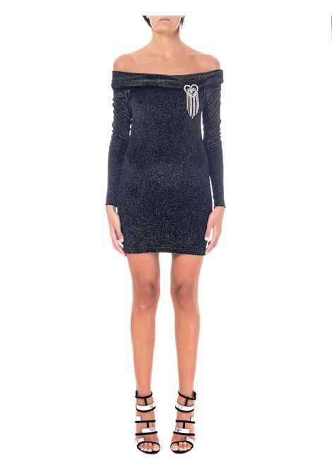 BLACK SHORT DRESS WITH FRONT PIN CHIARA FERRAGNI | Dress | CFDR044NERO