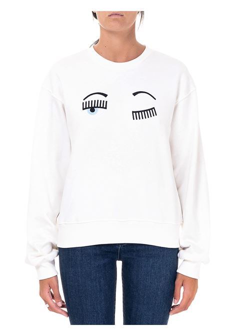 WHITE SWEATSHIRT IN COTTON FLIRTING MODEL CHIARA FERRAGNI | Sweatshirts | CFF082BIANCO