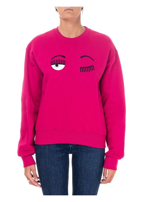 FUCSIA SWEATSHIRT IN COTTON FLIRTING MODEL CHIARA FERRAGNI | Sweatshirts | CFF082FUCSIA