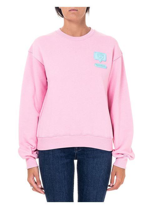 EYELIKE PINK COTTON SWEATSHIRT CHIARA FERRAGNI | Sweatshirts | CFF107ROSA