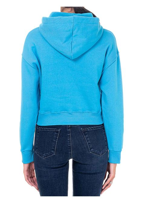 CROP LIGHT BLUE SWEATSHIRT IN COTTON MODEL HOODIE @CFMASCOTTE CHIARA FERRAGNI   Sweatshirts   CFF118OCEANO