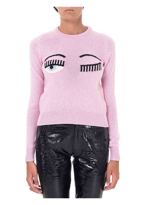 PINK SWEATER IN WOOL AND CASHMERE BLEND FLIRTING MODEL CHIARA FERRAGNI | Sweaters | CFJM038ROSA