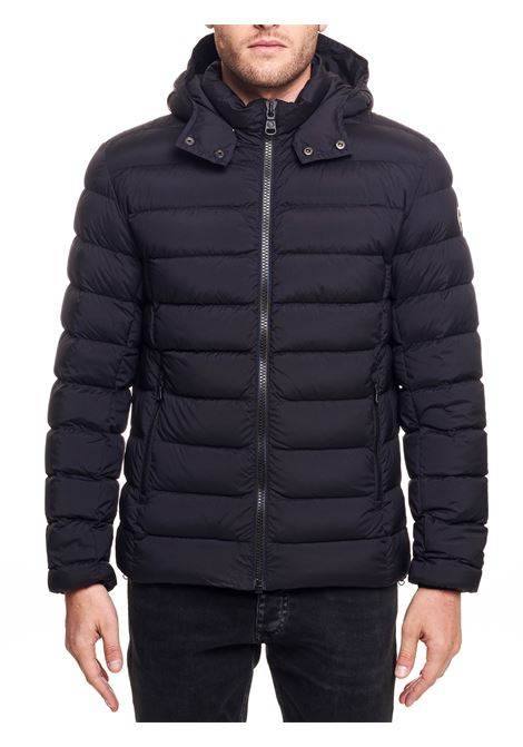 BLACK STRATCH DOWN JACKET WITH DETACHABLE HOOD COLMAR | Jackets | 1250R2SE99