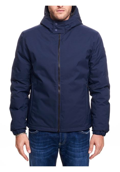BLUE MATT DOWN JACKET WITH HOOD COLMAR | Jackets | 12739UZ167