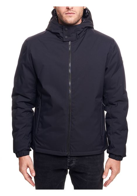 BLACK MATT DOWN JACKET WITH HOOD COLMAR | Jackets | 12739UZ99