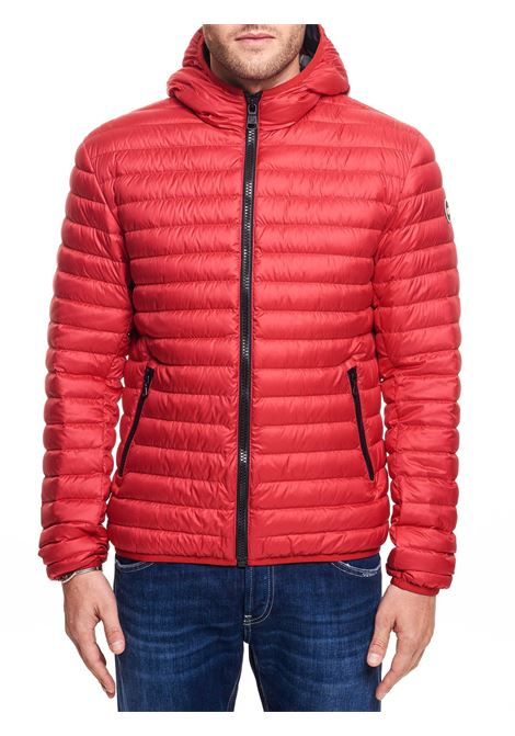 RED STRETCH DOWN JACKET WITH HOOD COLMAR | Jackets | 1277R8RQ193