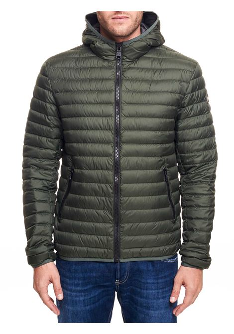 GREEN STRETCH DOWN JACKET WITH HOOD COLMAR | Jackets | 1277R8RQ431