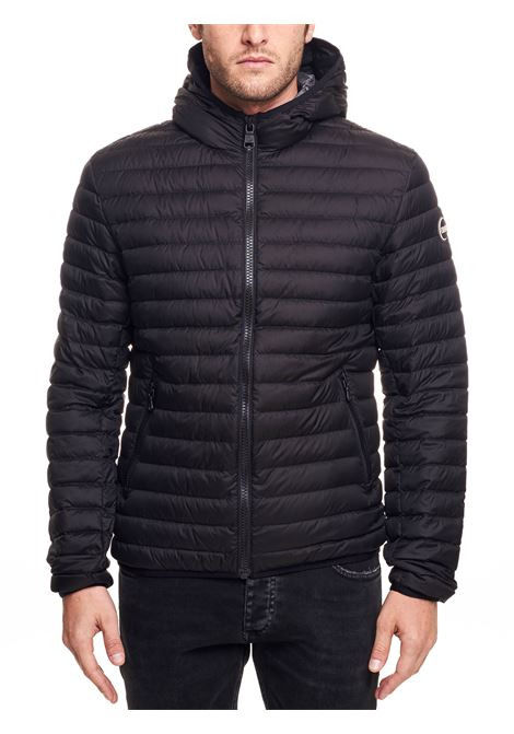 BLACK STRETCH DOWN JACKET WITH HOOD COLMAR | Jackets | 1277R8RQ99