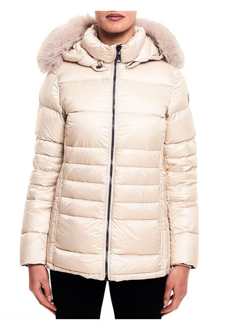BEIGE SHINY DOWN JACKET WITH BELT COLMAR |  | 2218F7QD407