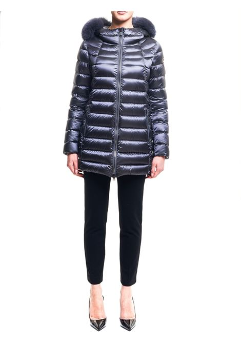 LONG DOWN JACKET WITH LOGO APPLICATION ON THE SLEEVE COLMAR | Jackets | 2233F7QD338