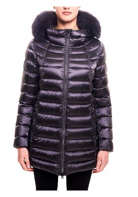 LONG DOWN JACKET WITH LOGO APPLICATION ON THE SLEEVE COLMAR | Jackets | 2233F7QD99