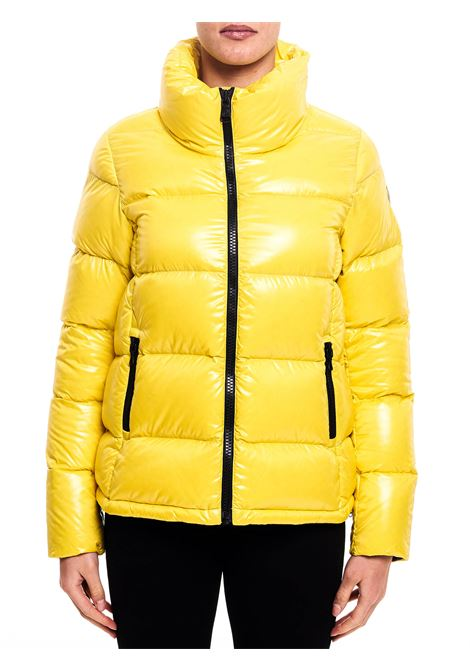 YELLOW DOWN JACKET WITH LOGO APPLICATION ON THE SLEEVE COLMAR |  | 22485TW480