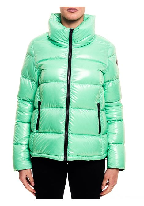 GREEN DOWN JACKET WITH LOGO APPLICATION ON THE SLEEVE COLMAR | Jackets | 22485TW483
