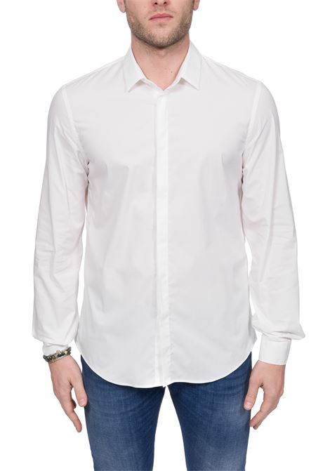 WHITE COTTON SHIRT DONDUP | Shirts | UC235PS0012XXXDUW20000