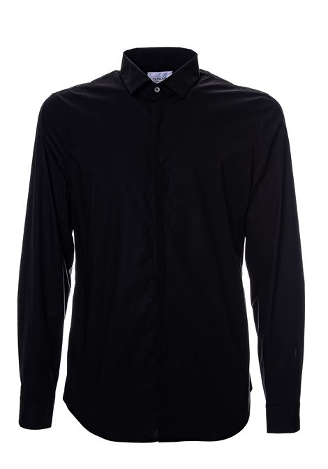 BLACK COTTON SHIRT DONDUP | Shirts | UC235PS0012XXXDUW20999