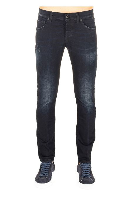BLACK COTTON JEANS MODEL MIUS SLIM FIT DONDUP | Jeans | UP168DS0281AS2DUW20999