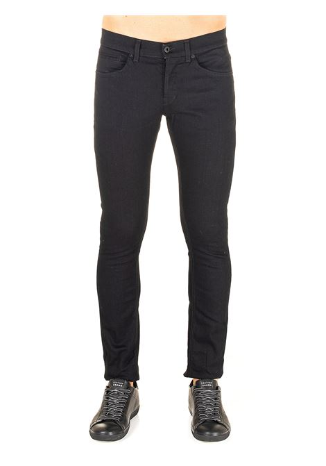 PANTALONE NERO MODELLO GEORGE SKINNY FIT IN MISTO COTONE DONDUP | Jeans | UP232DSE249A27DUW20999