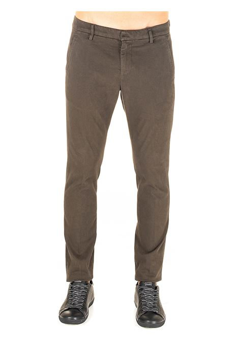 PANTALONI MARRONE IN COTONE MODELLO GAUBERT DONDUP | Pantaloni | UP235RSE032PT0DUW20697