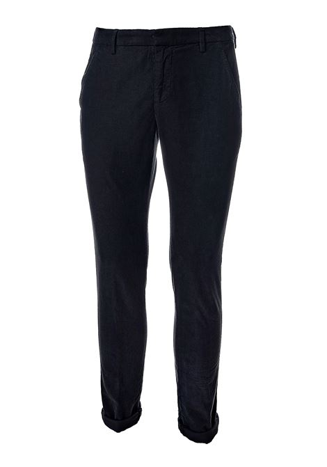 PANTALONI NERO IN VELLUTO MODELLO GAUBERT DONDUP | Pantaloni | UP235VS0426PTDDUW20999