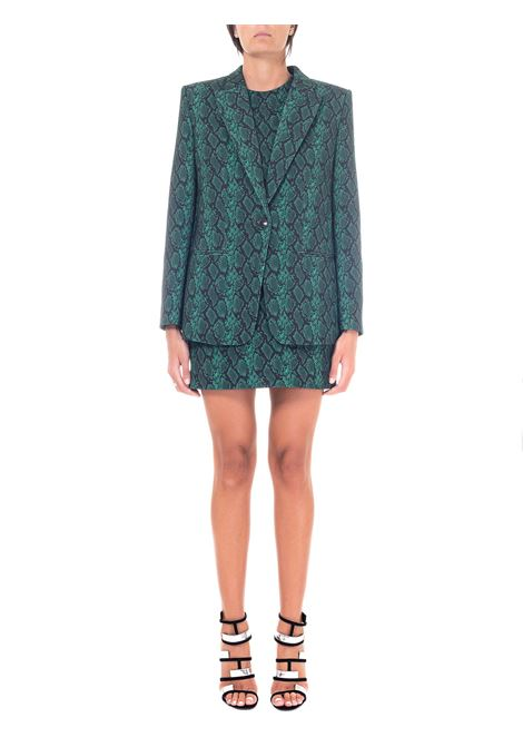 GREEN JACKET WITH SNAKE PRINT ACETOSELLA MODEL11 DOU DOU | Jackets | ACETOSELLA11DD11VERDE