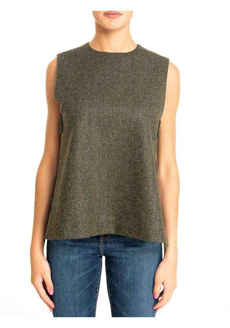 GREEN WOOL TOP MODEL CERNIA09 DOU DOU | Tops | CERNIA09DD09VERDE