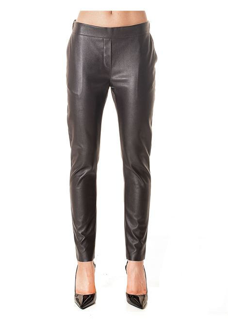 FAUX LEATHER BROWN PANTS MODEL FALCO13 DOU DOU | Pants | FALCO13DD13MARRONE