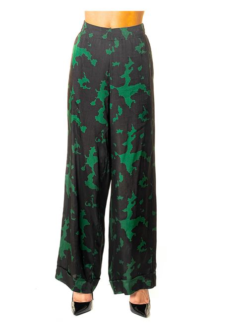 FINFERLI MODEL MULTICOLOR TROUSERS DOU DOU | Pants | FINFERLIDD05MARRONE/VERDE