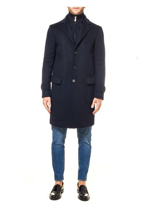BLUE COAT IN MIXED WOOL AND CASHMERE ELEVENTY | Coats | B70CAPB05BTCRNTES0B12311
