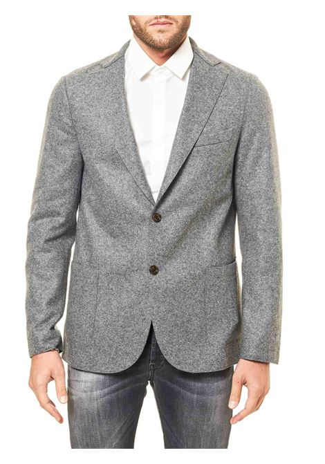 SINGLE-BREASTED GRAY WOOL JACKET ELEVENTY | Jackets | B70GIAA01BTCRNJAC2401815