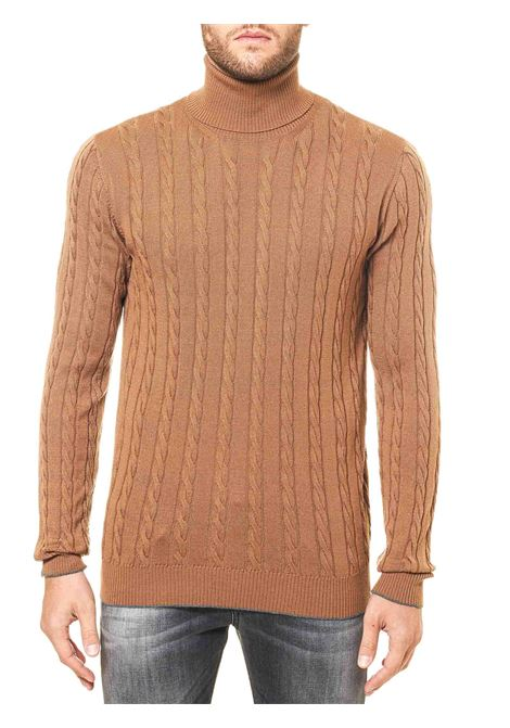 HIGH NECK CAMEL WOOL SWEATER ELEVENTY | Sweaters | B71MAGB19MAG0B04304A-15