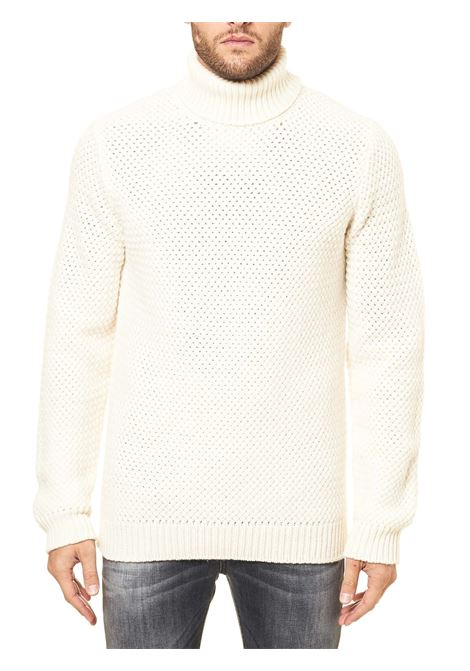 HIGH NECK WHITE WOOL SWEATER ELEVENTY | Sweaters | B71MAGB36MAG0B02301