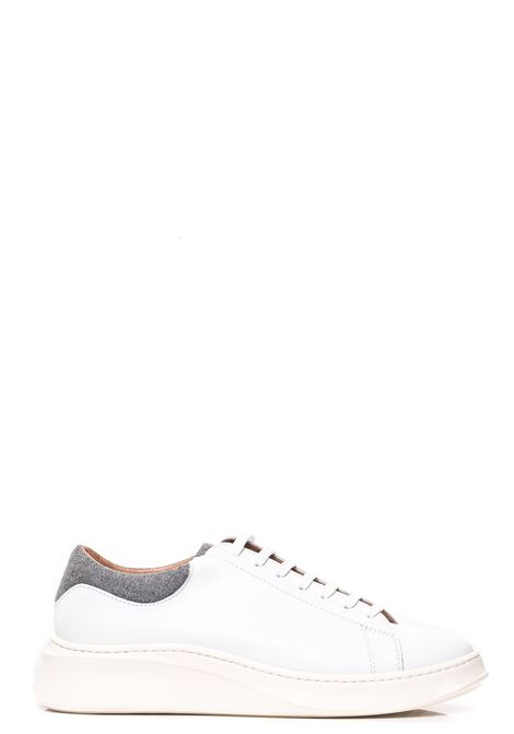 WHITE LEATHER SNEAKERS WITH SUEDE DETAILS ELEVENTY | Sneakers | B72SCNB12SCA0B03201