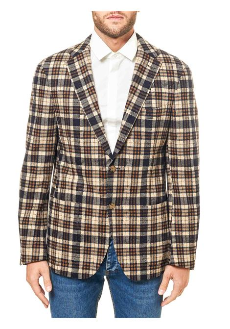 SINGLE-BREASTED MULTICOLORED JACKET IN A COTTON AND WOOL BLEND ELEVENTY | Jackets | B75GIAB05BTCRNTES0B09104