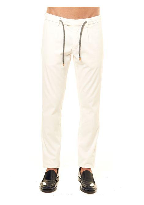 WHITE COTTON BLEND PANTS ELEVENTY | Pants | B75PANB21TET0B00400