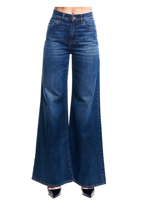 WIDE BELL BOTTOM JEANS IN COTTON DENIM ELEVENTY | Jeans | B80PANB14TES0B23311