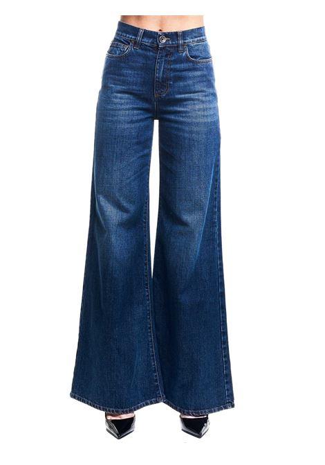JEANS IN DENIM DI COTONE A ZAMPA AMPIA ELEVENTY | Jeans | B80PANB14TES0B23311