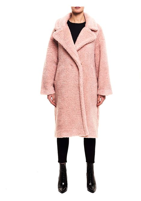 PINK WOOL BLEND COAT WITH LUREX DETAILS FRONT STREET 8 | Coats | FR250ROSA